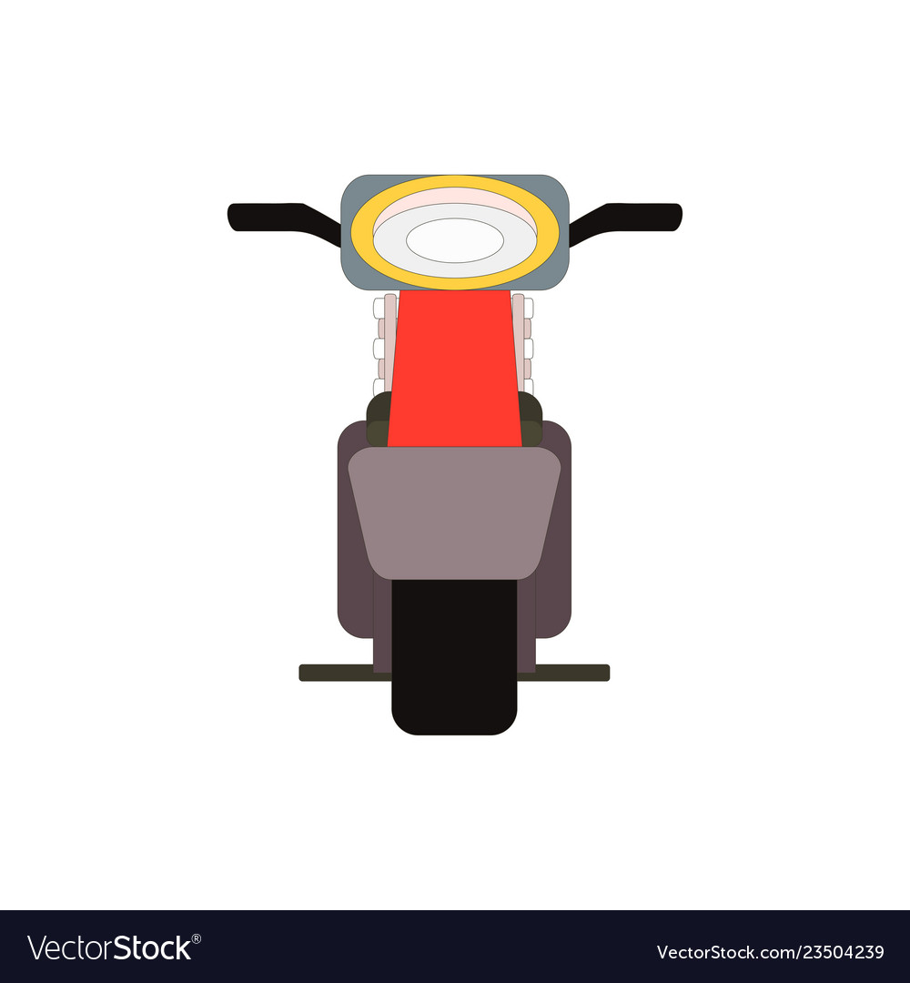 Retro moped scooter front view vector