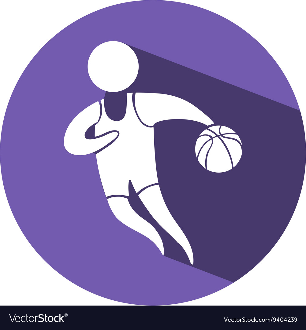 b267c19a08957 Sport icon for basketball on purple badge