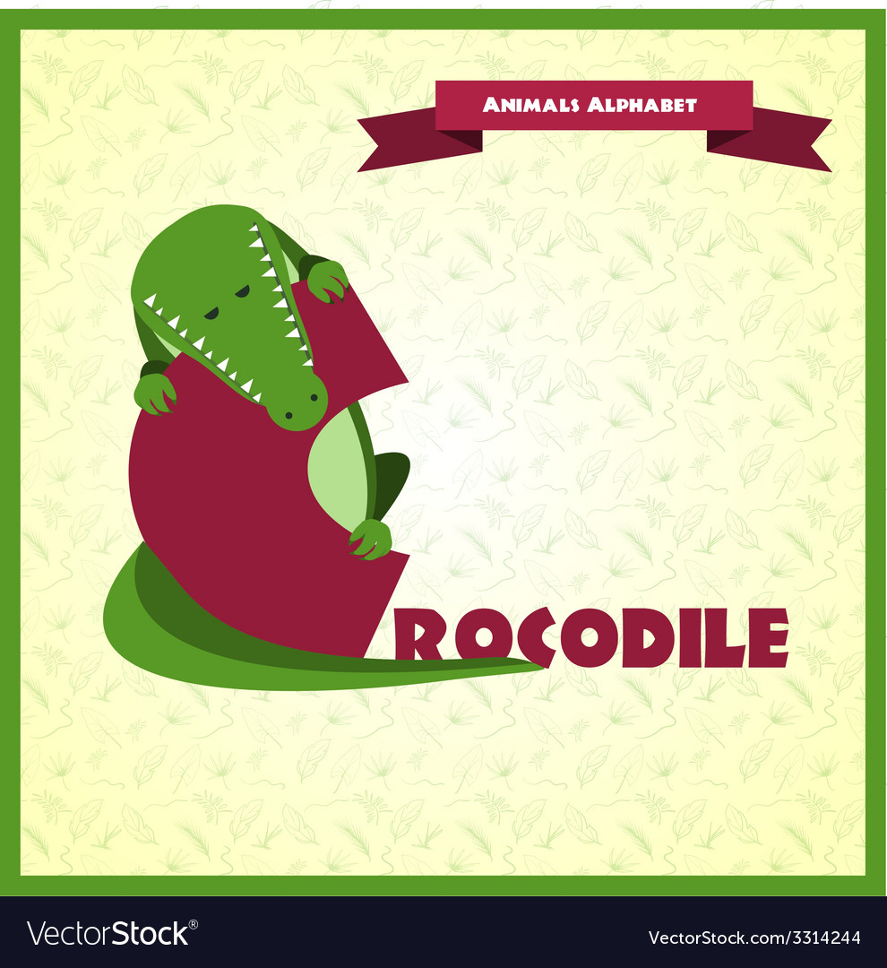 Alphabet letter C and crocodile