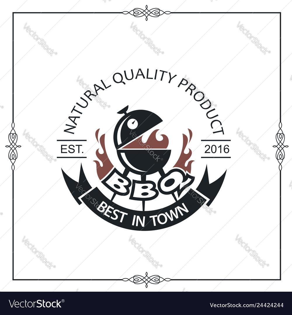 Barbecue grill emblem