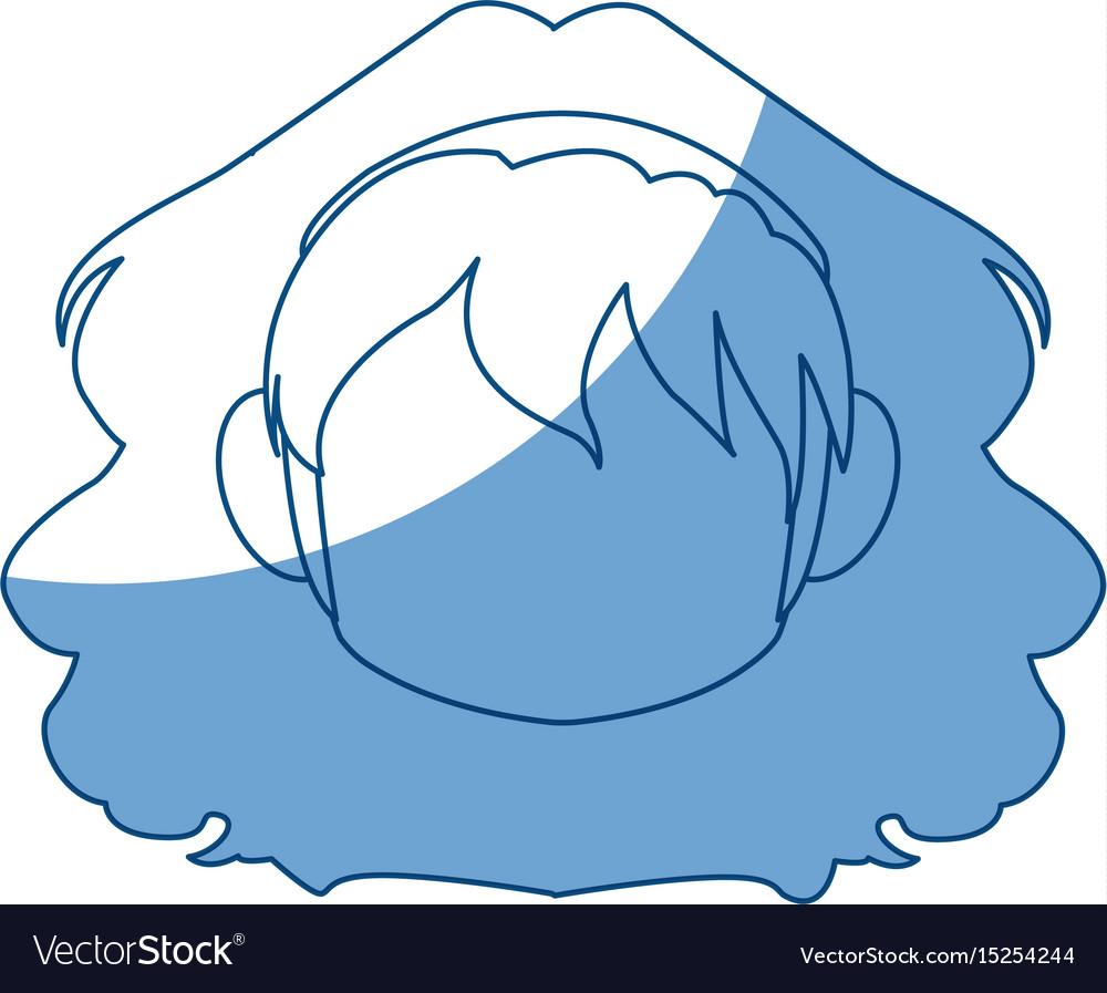 Chibi anime girl avatar contour default