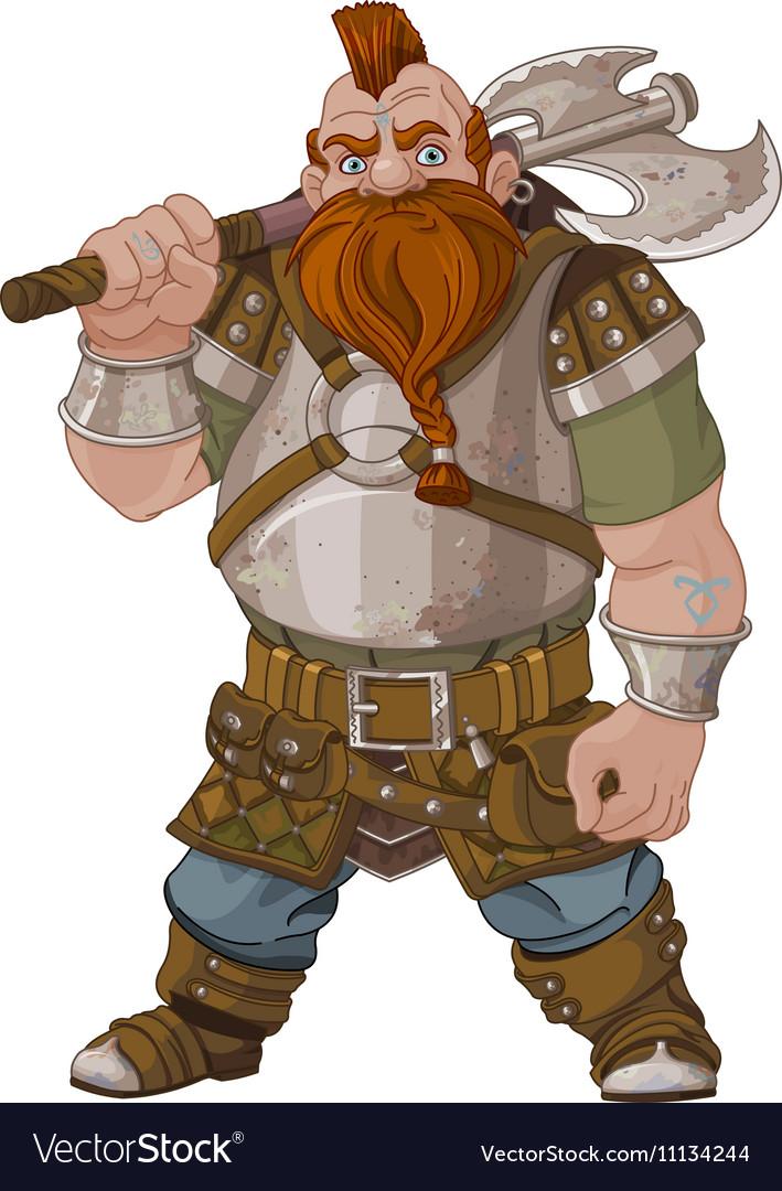Fantasy Style Dwarf vector image