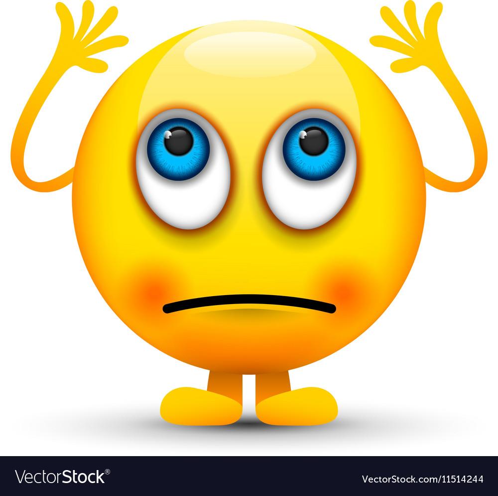 Rolling eyes emoji character Royalty Free Vector Image
