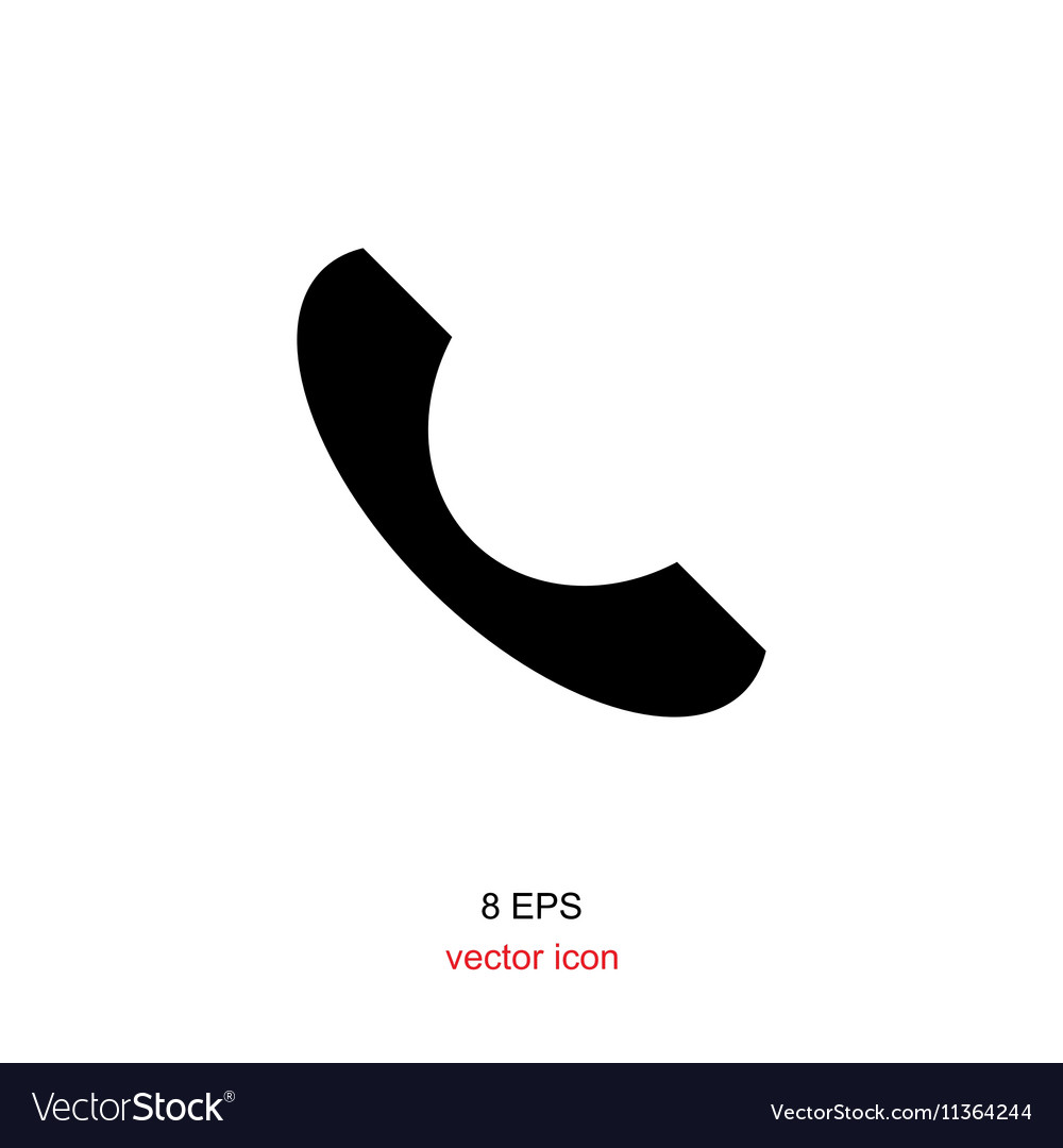 telephone icon phone simple icon or logo for web vector image