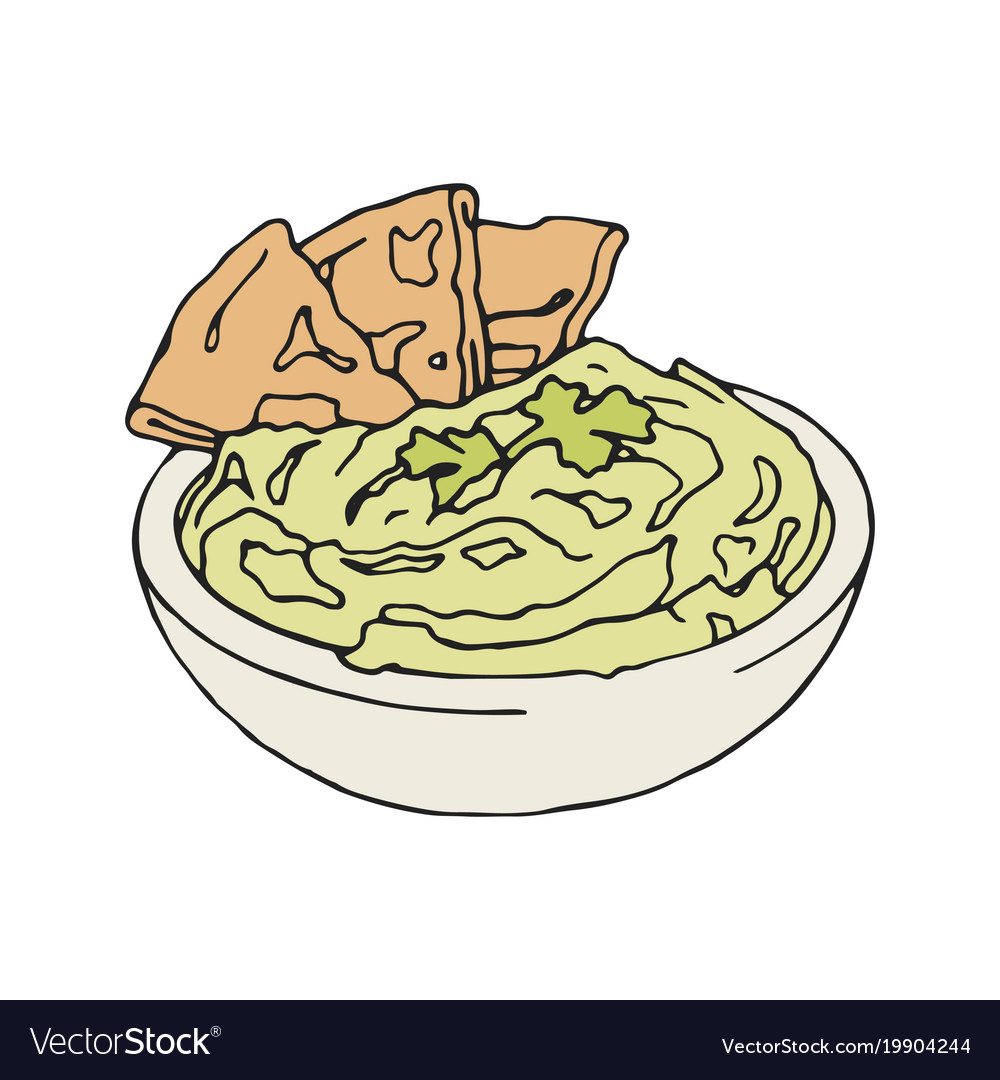 Vintage style of hummus with vector image