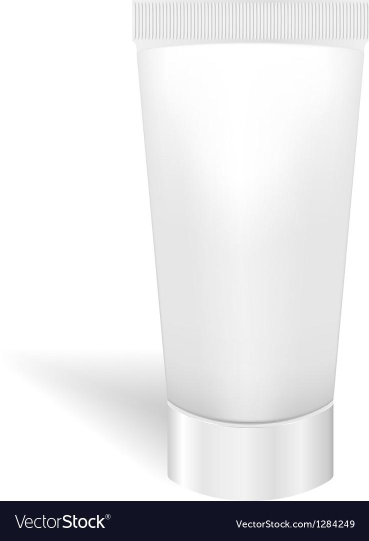 Blank white tube for cream or gel Packaging for