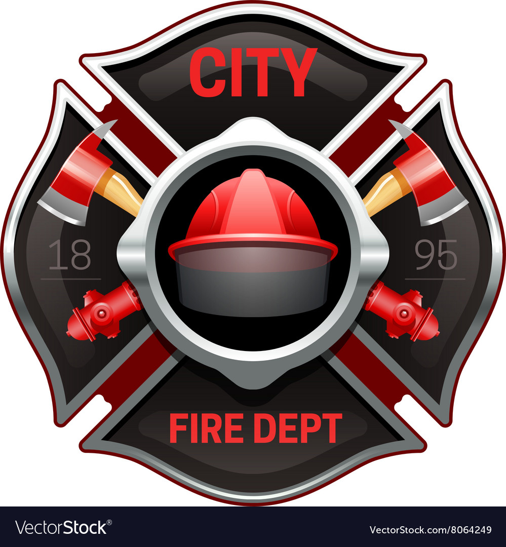 fire department emblem realistic image royalty free vector rh vectorstock com fire station logo design fire station logo design