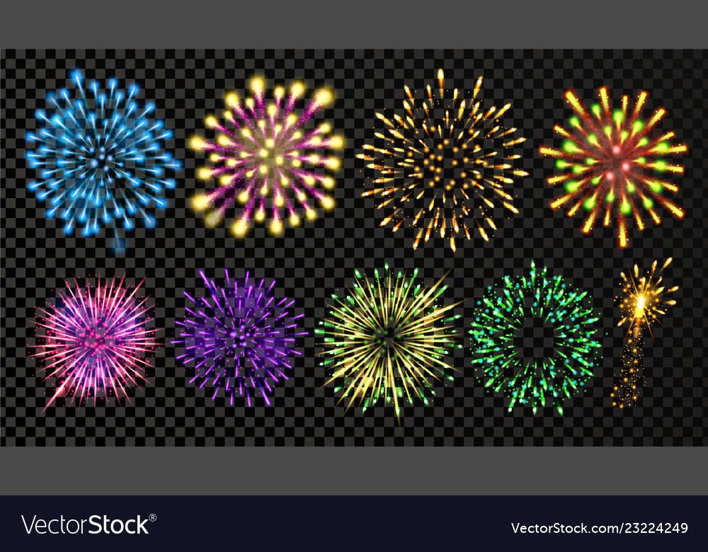 Fireworks set festive carnival night sky