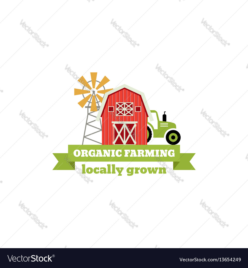 Fresh from the farm concept logo template with vector image