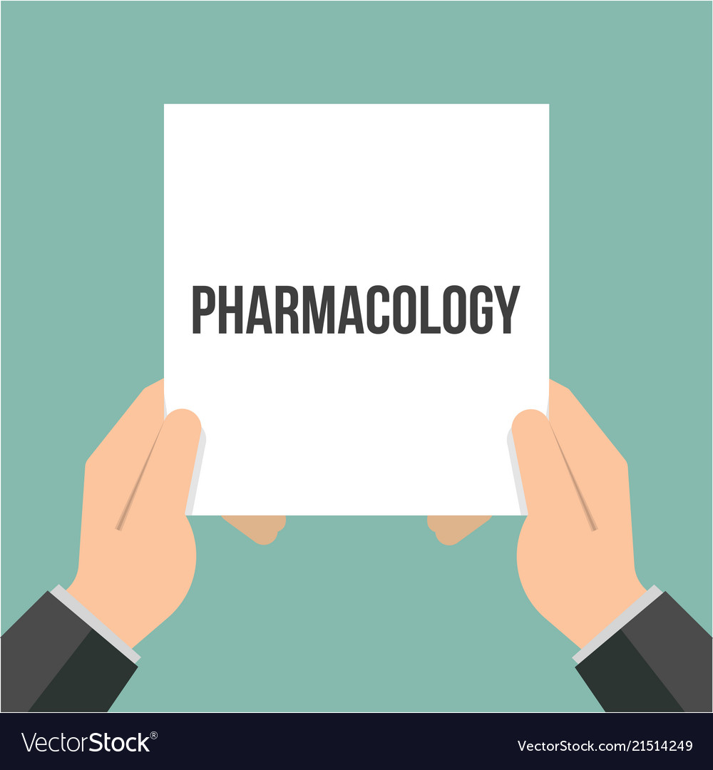 Man showing paper pharmacology text