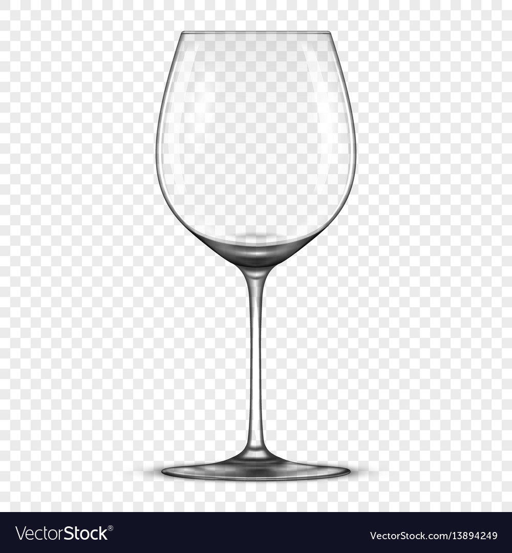 c52561311dc Realistic empty wine glass icon isolated on Vector Image