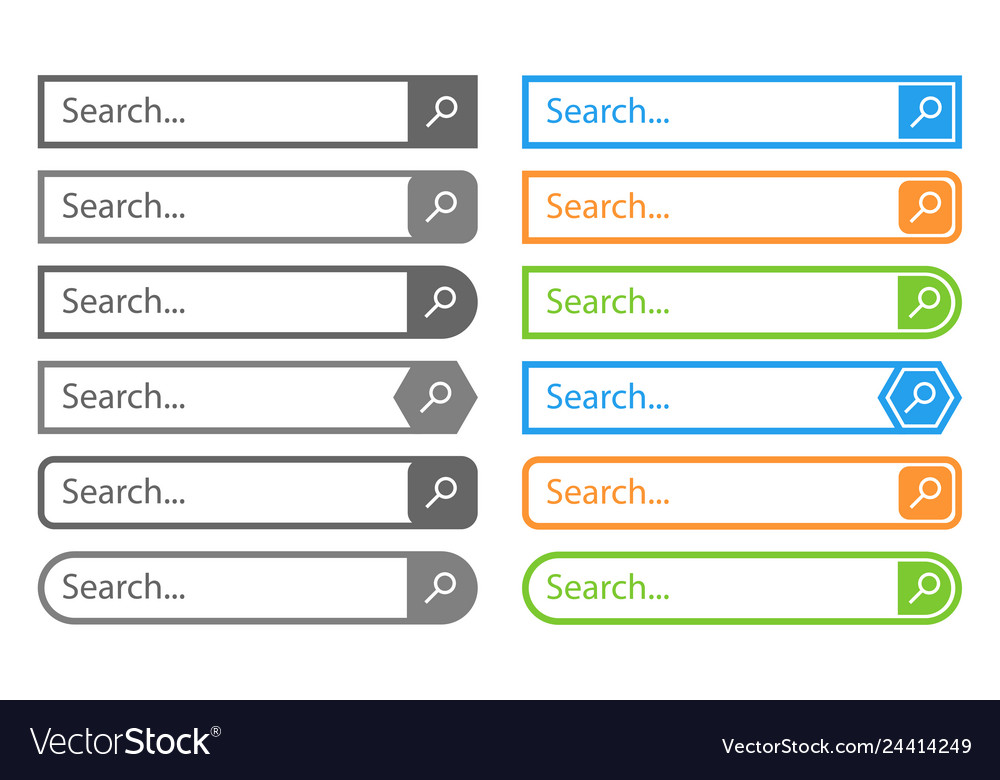 Search bar design element in flat style