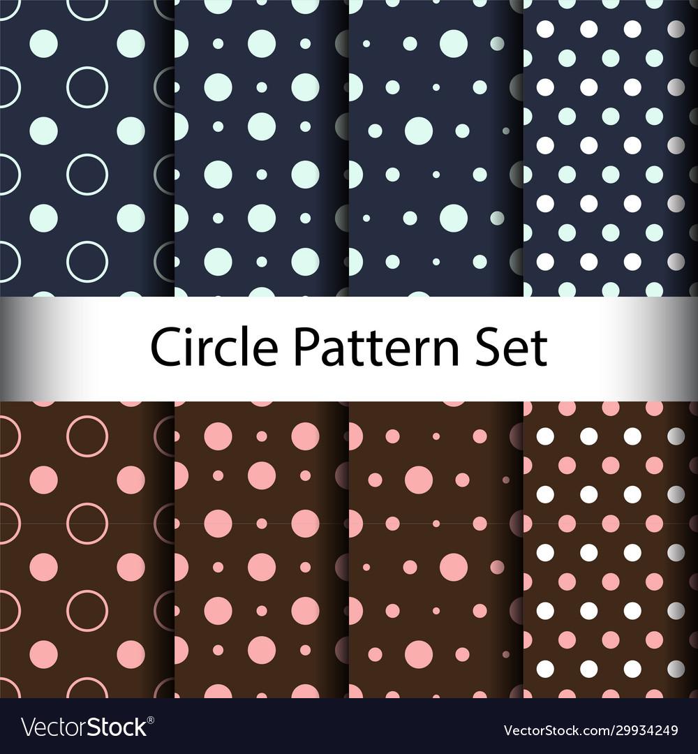 Set circle seamless pattern background