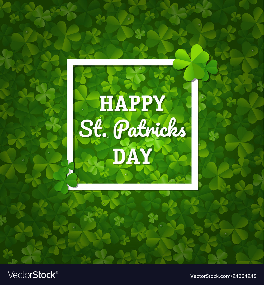 St patricks backgrounds with clovers