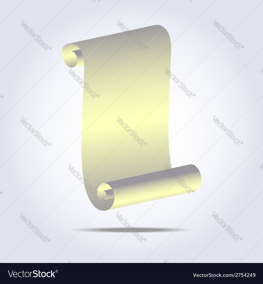 vintage paper scroll icon royalty free vector image