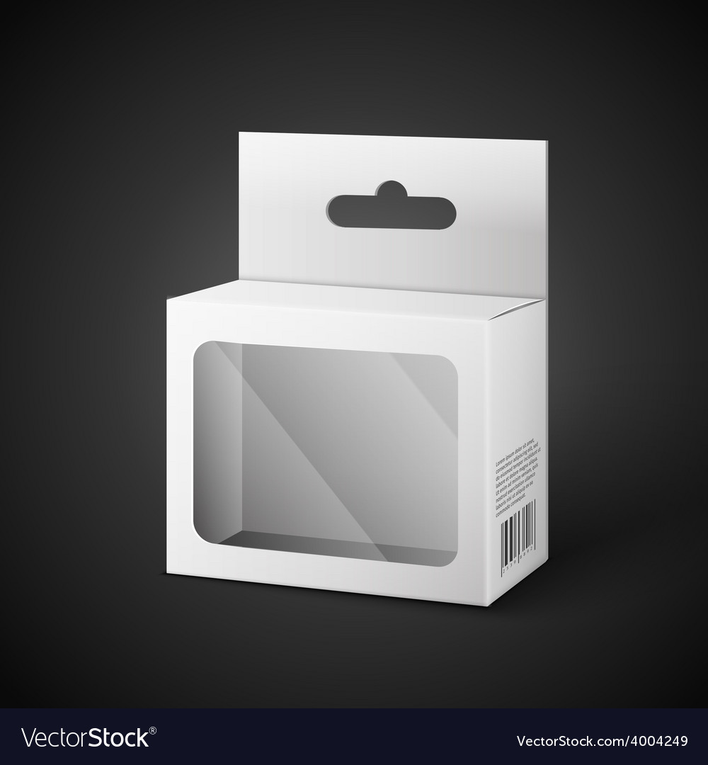 White Package Box Isolated On Black