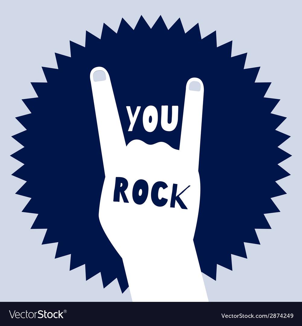You rock poster template Devils horns sign