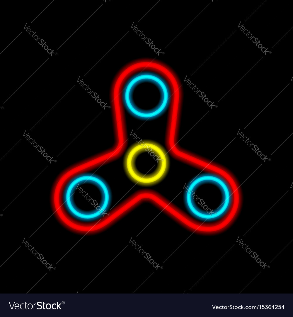 A spinning pinwheel a toy to relieve stress vector image