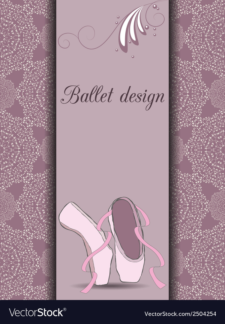 Ballet design card vector image