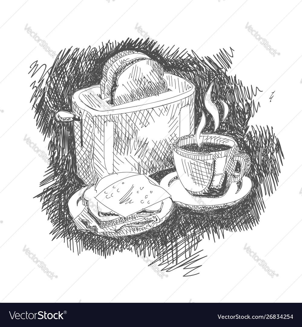 Breakfast set sketch