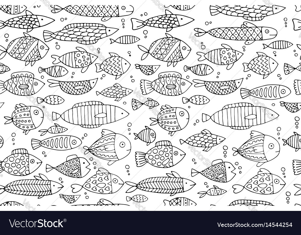 Fish collection seamless pattern for your design