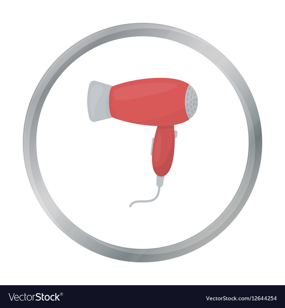 Hair dryer icon in cartoon style isolated on white