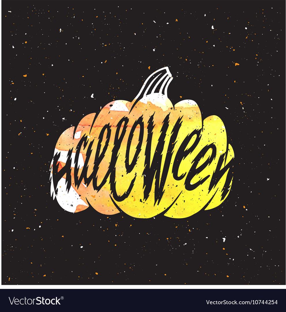 Halloween elements pumpkins vector image