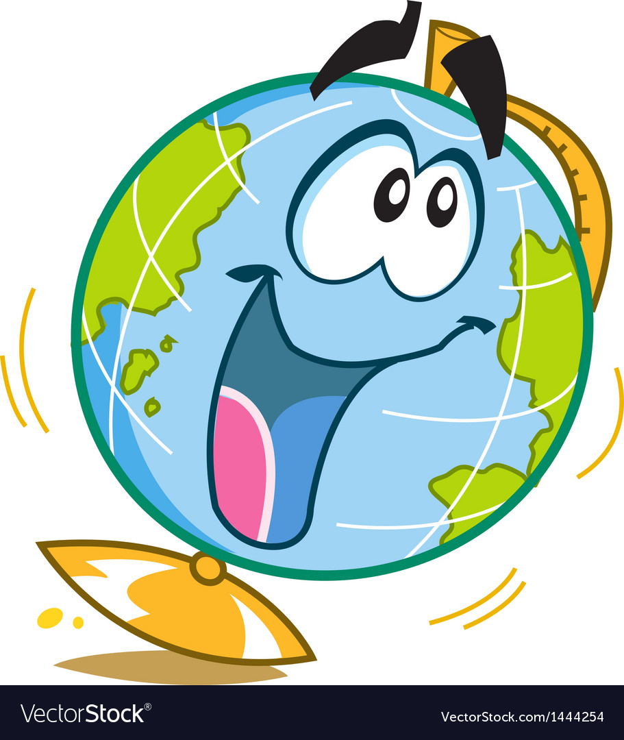 Happy Fun Globe vector image