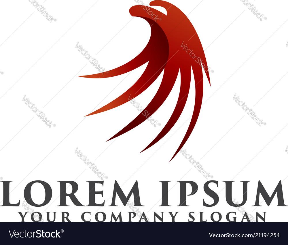 Luxury eagle head logo design concept template