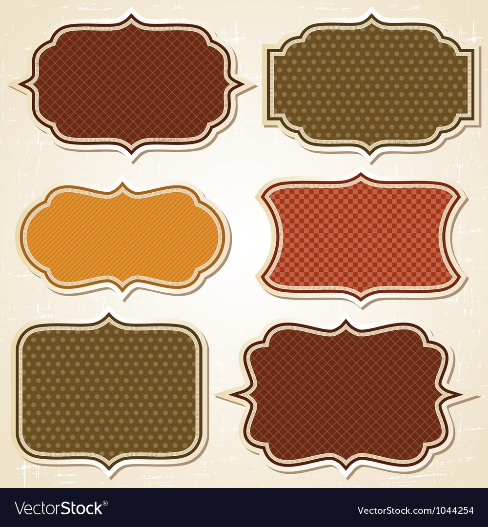 Retro Labels Stickers Set vector image