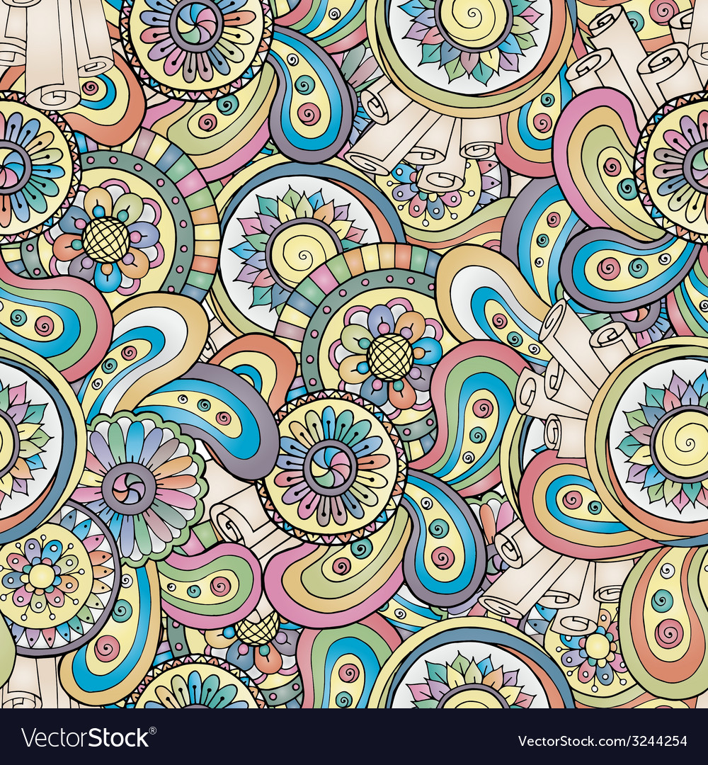 Seamless floral background pattern in vector image