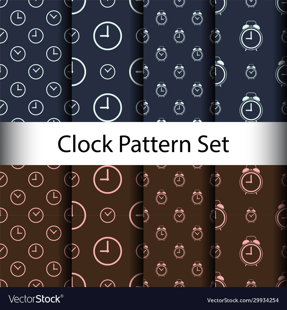 Set alarm clock seamless pattern background