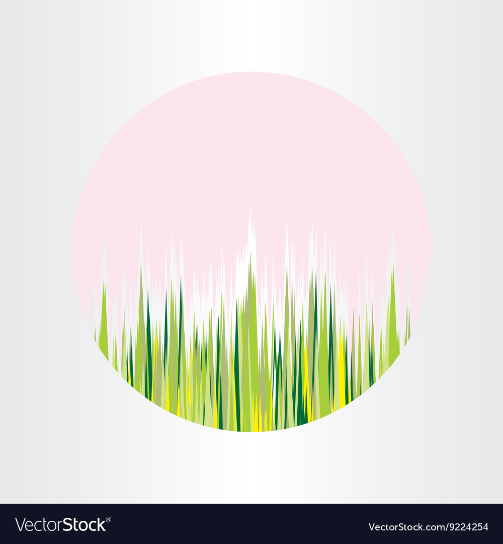 Spring nature grass circle abstract background