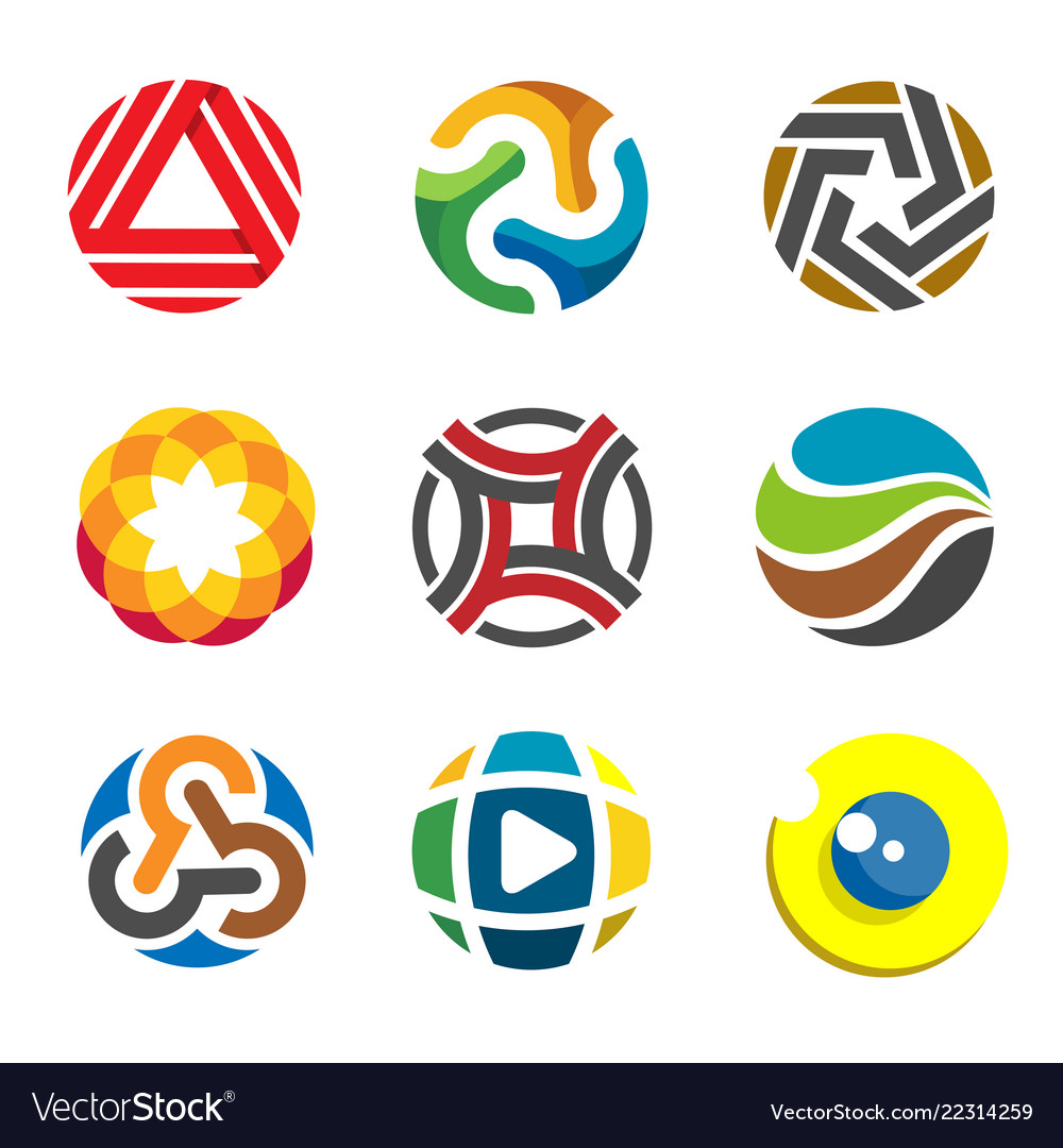 Abstract circle logo for business company