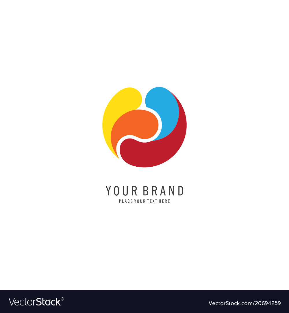 Colorful circle logo
