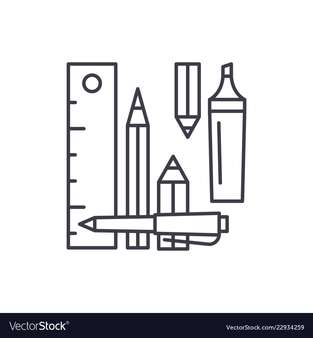 Counting tools line icon concept counting tools vector image on VectorStock