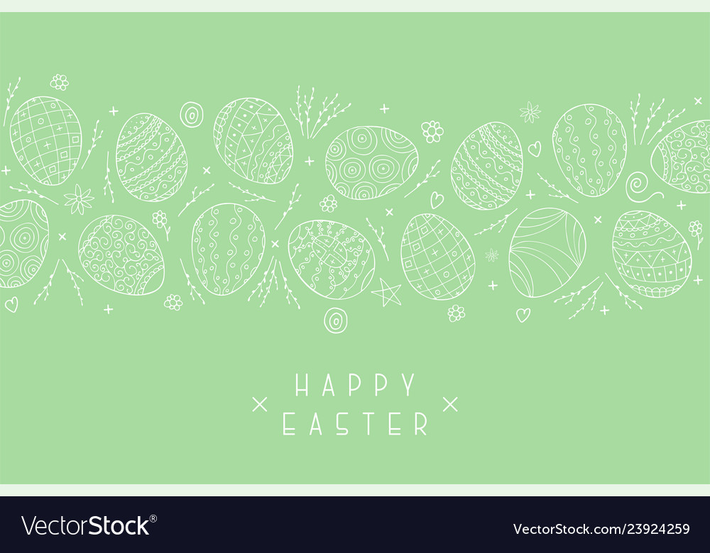 Easter holiday green background with hand