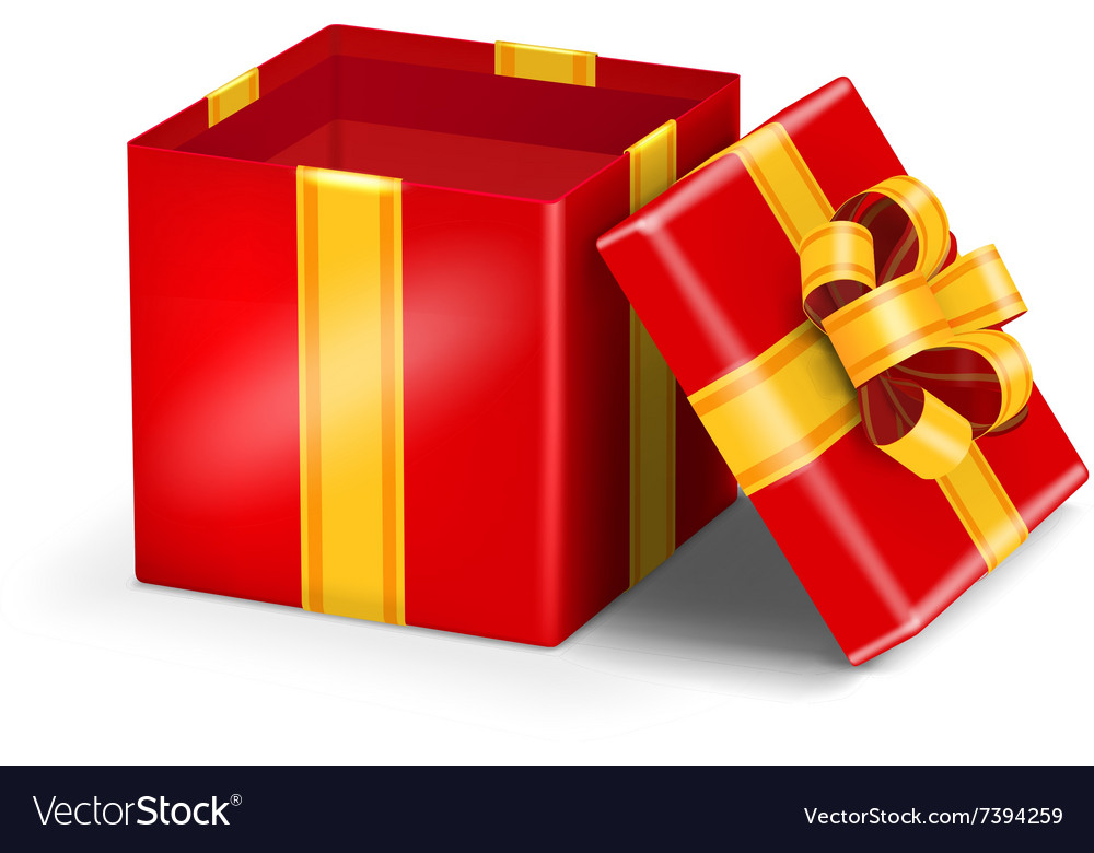 Open red gift