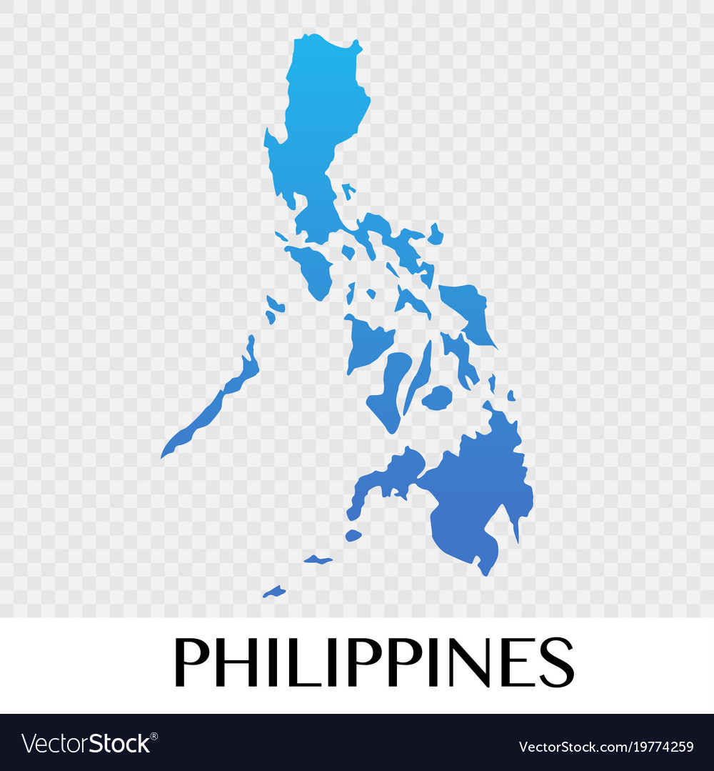 Image of: Philippines Map In Asia Continent Design Vector Image