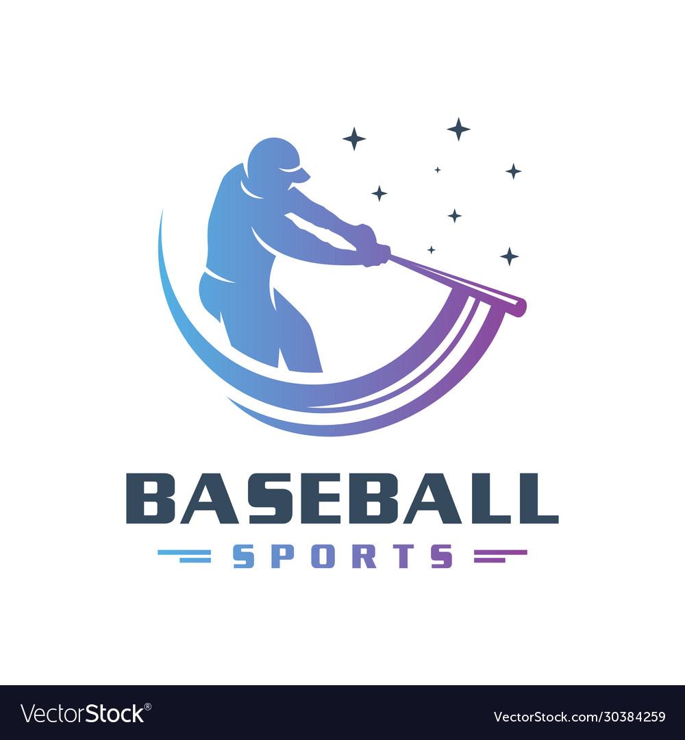 Sports baseball logo design