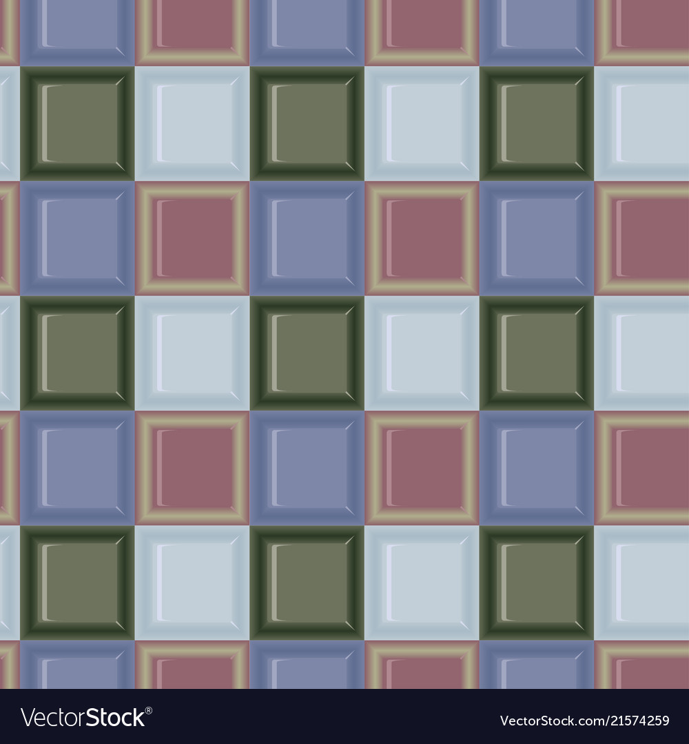 Square colored glass mozaic green and blue tile