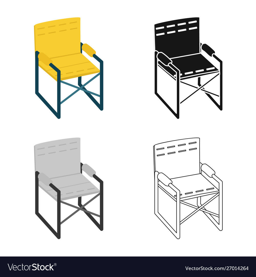Chair and folding icon set