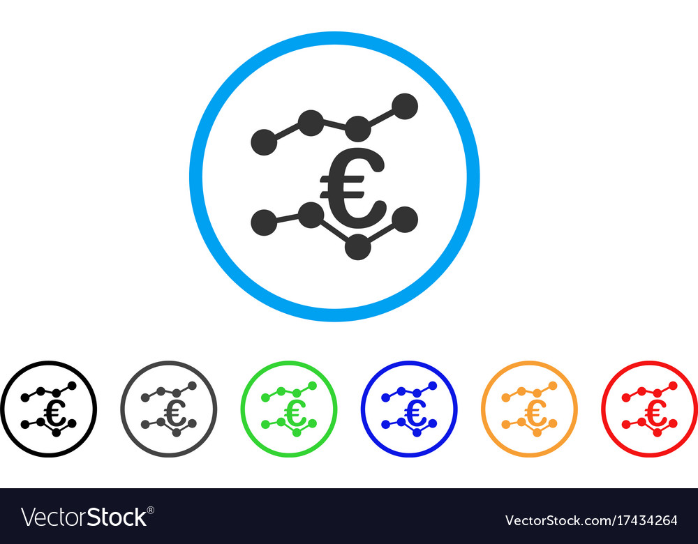 Euro Trends Rounded Icon Vector Image