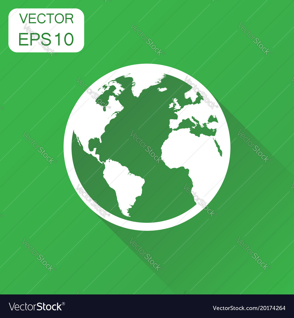 globe world map icon business concept round earth vector image