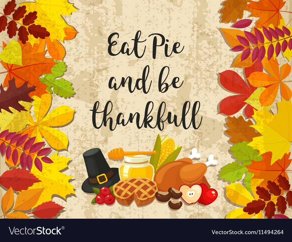 Happy Thanksgiving Day banner with