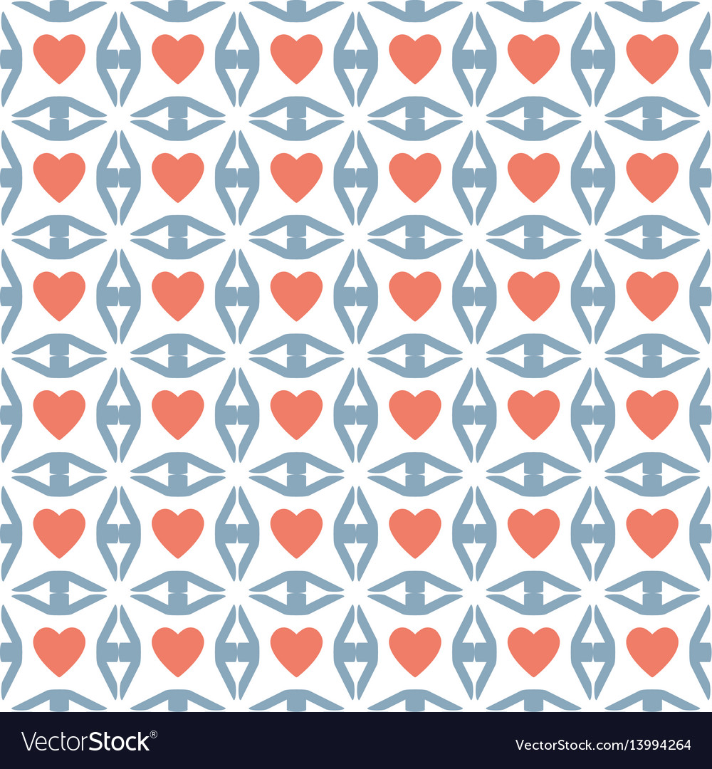 Heart sign valentine day design pattern vector image