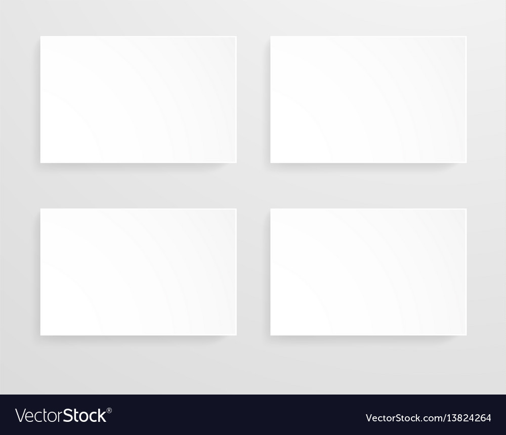 Mockup template for banners with empty pages in