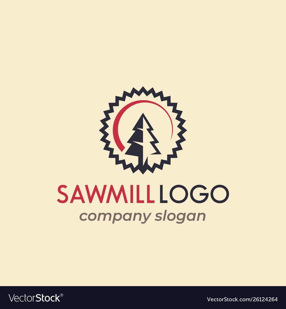Sawmill logo design Royalty Free Vector Image - VectorStock