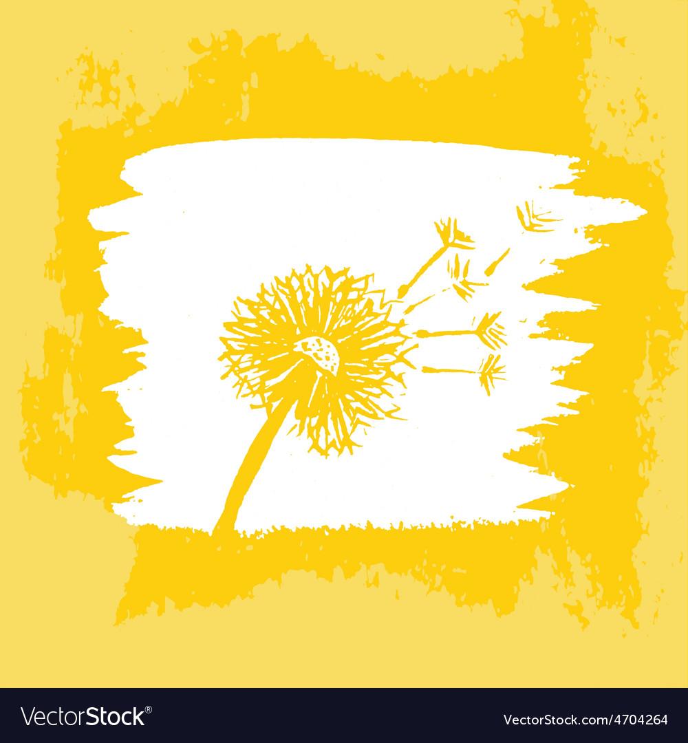 Watercolor graphic dandelion