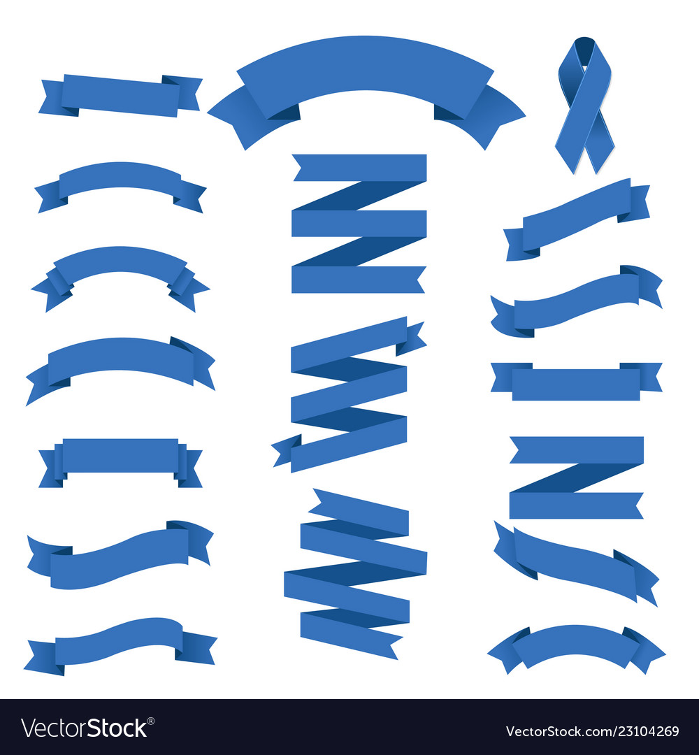 Blue ribbons collection
